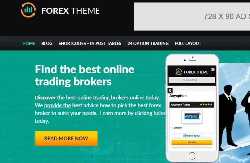 forex 2 - wordpress gambling themes