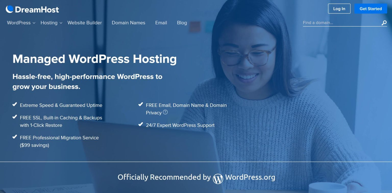 dreamhost is a very fast managed WordPress hosting for websites