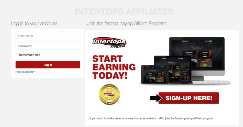 INTERTOPS-AFFILIATES- Gambling affiliate programs