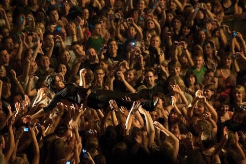 Stefanie beim Publikumsbad || Foto: © Ulf Cronenberg, Würzburg