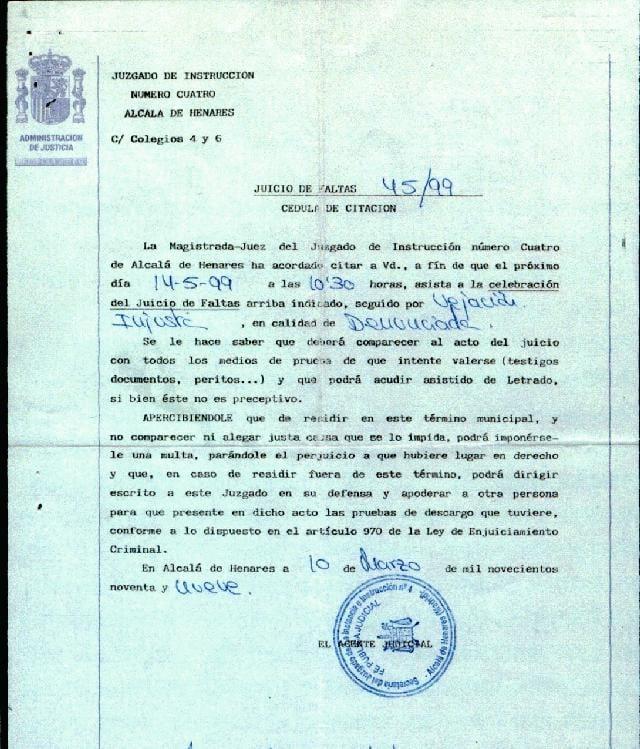 He recibido una citación del juzgado - FM Abogados Tenerife