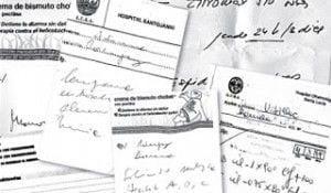 informes médicos ilegibles