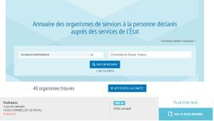 fmAdom Inscrit dans l'annuaire national des SAP