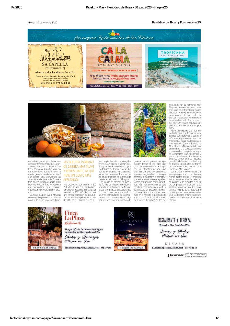 30/06/2020 - Periódico de Ibiza - Especial Gastro