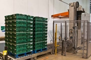 OMS Horizontal Pallet Strapper for T.H. Clements