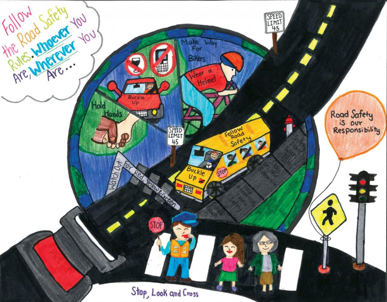 2019 road safety art contest winners