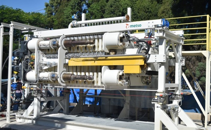 Full-scale testing of Metso VPX™ filter for tailings dewatering started in Brazil