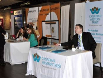 CWT Ticoon and Moneyfinder booths