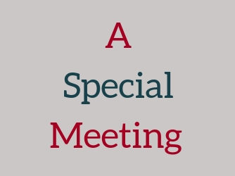 Special Meeting on Promotional Items