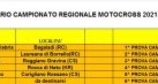 Calendario Campionato Regionale Motocross Calabria 2021