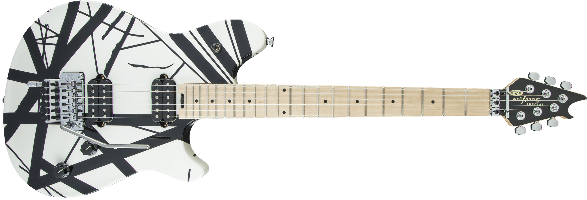 EVH Wolfgang Special, Maple Fingerboard, Black and White Stripes