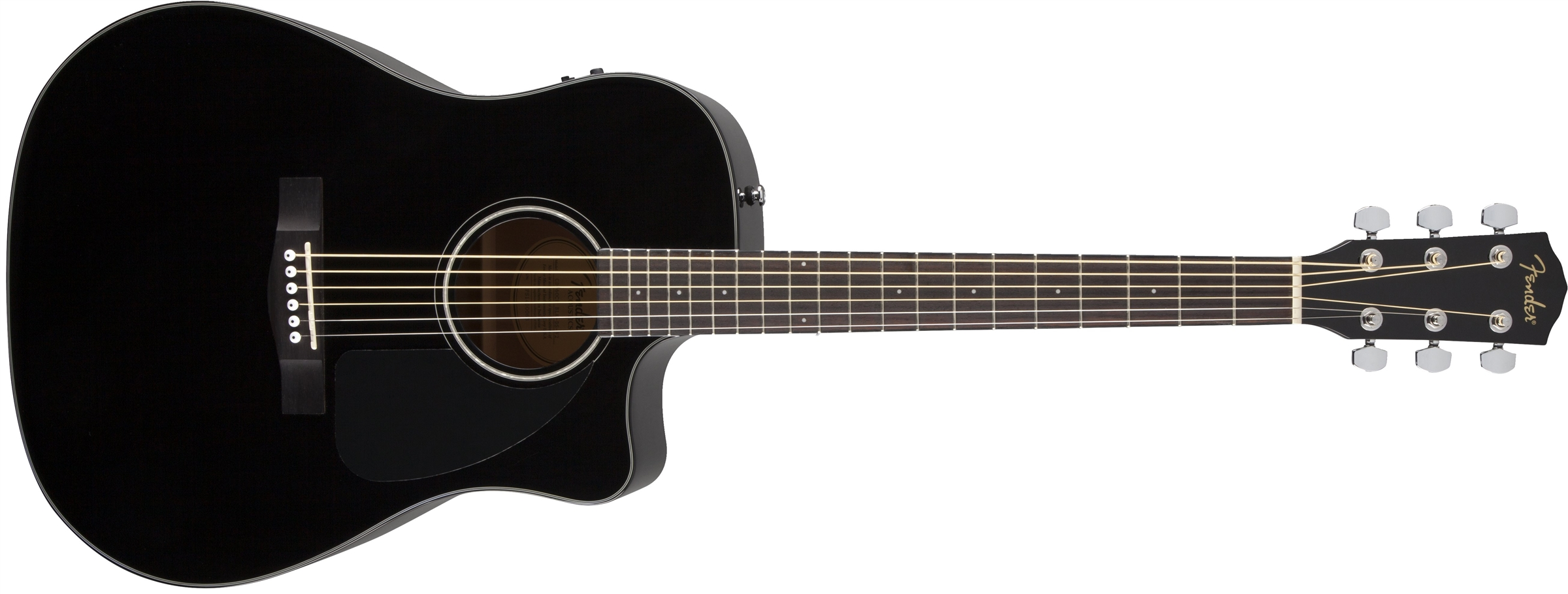 Black Fender Cd 60 Acoustic Guitar