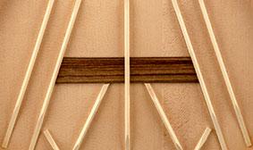 Traditional classical fan bracing