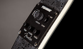Win this Fender Standard Stratacoustic, ® preamp with built-in tuner, Win this guitar