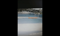 Violento choque en la Rotonda Carrozi y Mitre(video)