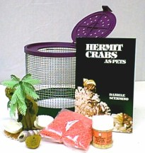 Unsuitable wire cage set up sold by pet stores for hermit crabs