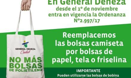 Gral Deheza – «No más bolsas de Polietileno»