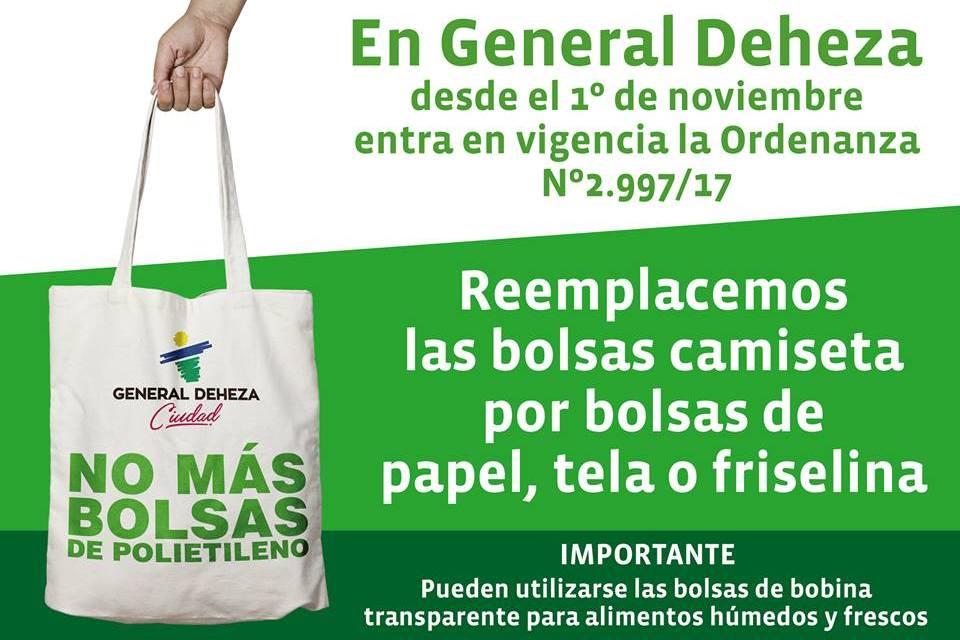 """Gral Deheza – """"No más bolsas de Polietileno"""""""