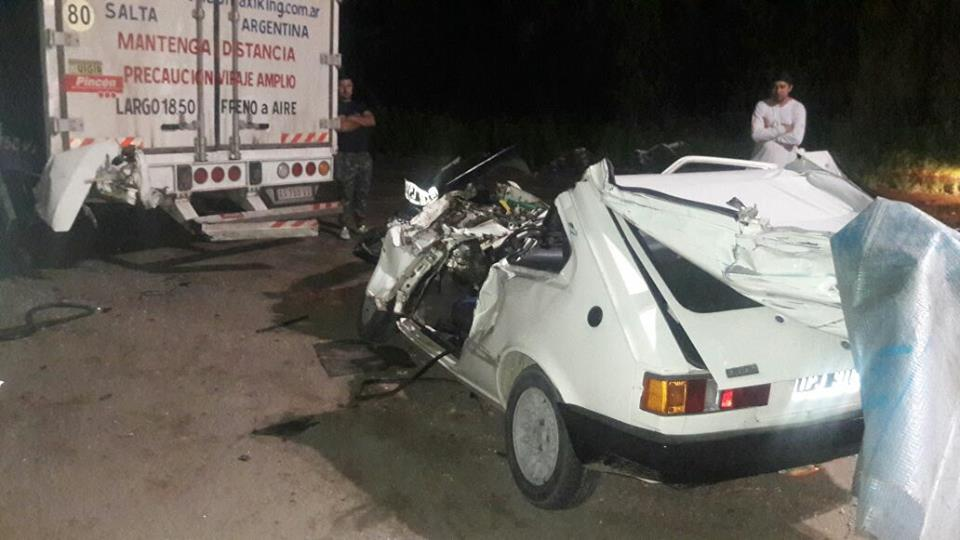 Accidente con lesionado en RN 8