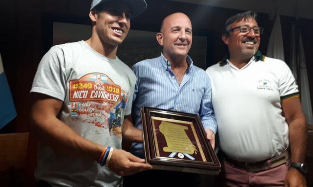Reconocimiento del municipio al piloto Nicolás Cavigliasso