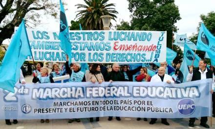 Marcha Federal Educativa -Villa María sede de acciones gremiales