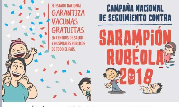 Campaña Nacional de seguimiento contra Sarampión y Rubéola 2018