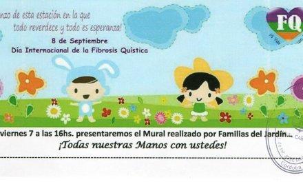 Jardín de Esc José María Paz presenta Mural en el Día de la Fibrosis Quística