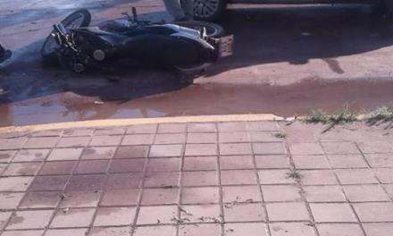 Accidente en calle céntrica