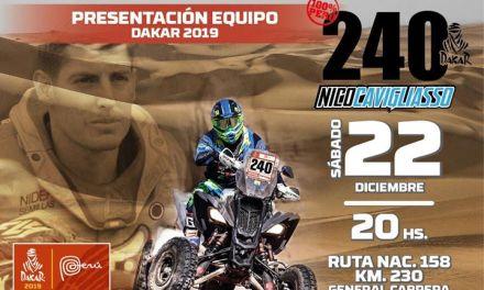 Nicolás Cavigliasso presentará su equipo para el Dakar 2019