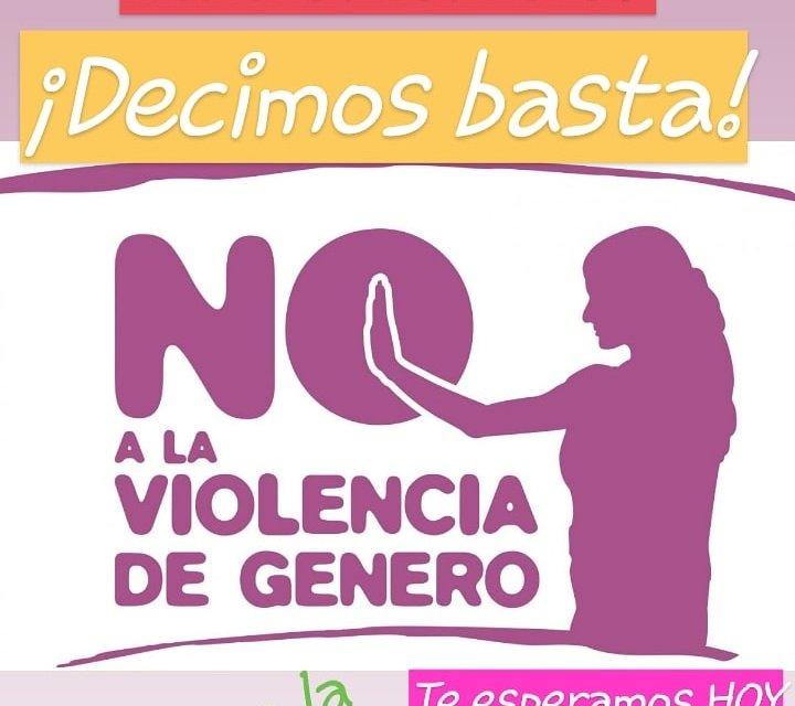 Nos movilizamos contra la violencia de género y los femicidios. Decimos basta.