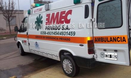 ACCIDENTE CON TRASLADO DE MENORES POR EMEC