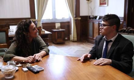 LUCIANO PALAZESI SE REUNIO CON LA VICEPRESIDENTE GABRIELA MICHETTI