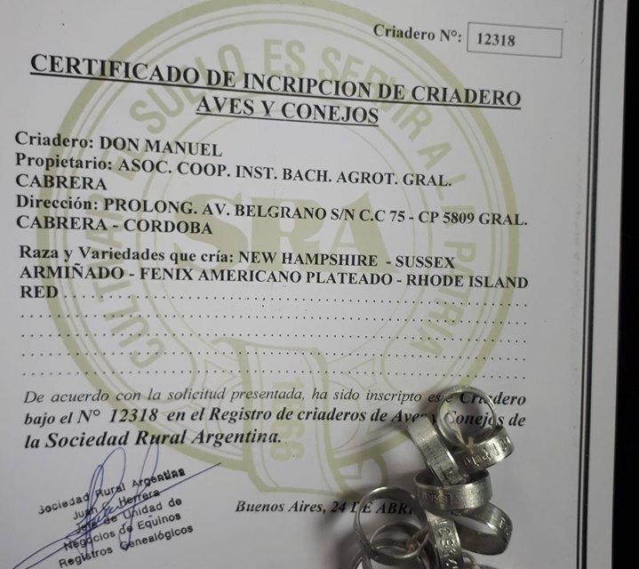 EL IPEA 291 TIENE OFICIALMENTE LA «CABAÑA DE AVES DON MANUEL»