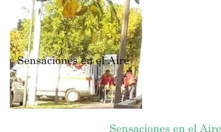 ACCIDENTE ENTRE UN AUTOMÓVIL Y UNA MOTOCICLETA