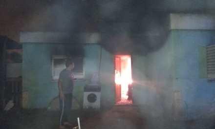 General Deheza. Incendio en una vivienda