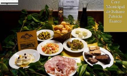 Merienda con platos típicos del Piemonte