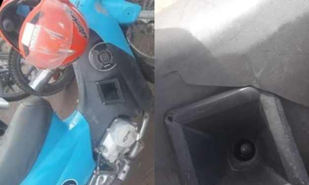 Joven denuncia que le devolvieron la moto secuestrada con roturas