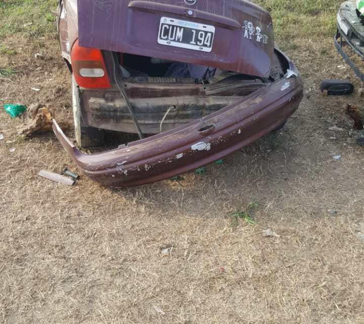 Accidente- Despiste en la Curva acceso norte a la ciudad