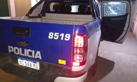 Las Perdices 2 sujetos de Cabrera  detenidos dañaron el móvil policial
