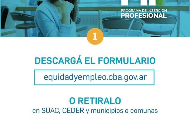 Programas de capacitación y Programa de inserción laboral para profesionales