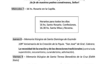 Comienza la novena y fiesta patronal en honor de San Roque