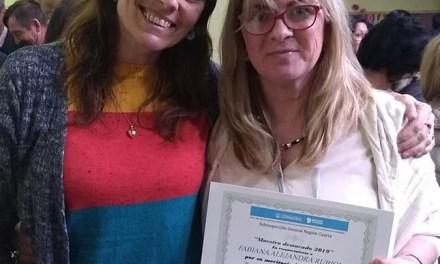 Fabiana Rubiolo , reconocida como Maestra Destacada