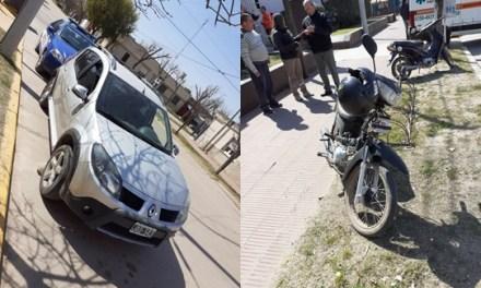 Cabrera- Accidente moto y vehículo