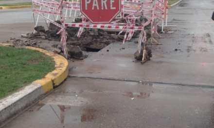 Municipal: Modificación sobre cañería de agua