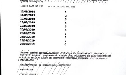 Cronograma de pagos de autoridades de mesa, capacitación y delegados en las P.A.S.O