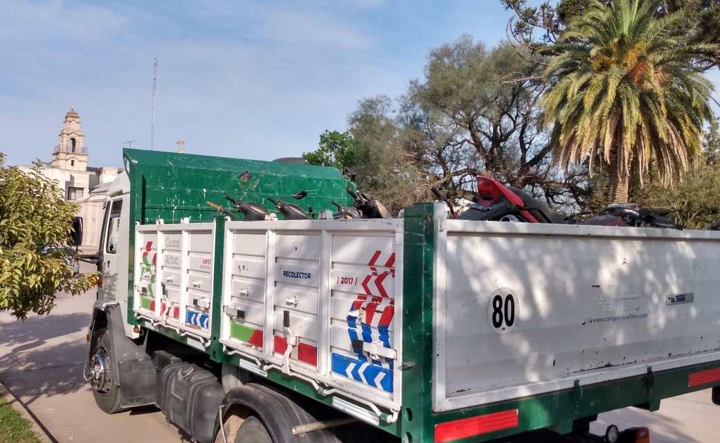Nuevo cargamento de motos al depósito judicial de Reducción