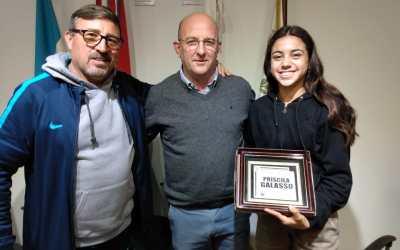 Reconocimiento a la deportista Priscila Galasso desde el Municipio