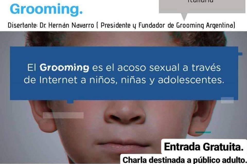 Invitación a la charla gratuita  sobre Grooming