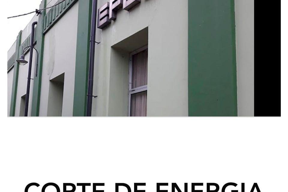 Corte de energía para el domingo