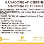 Se conocieron los ganadores del 41° Certamen Nacional de cuento